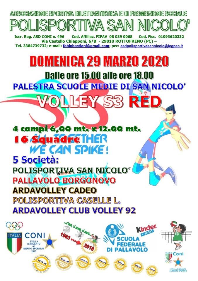 29-03 LOCANDINA VOLLEY S3 RED