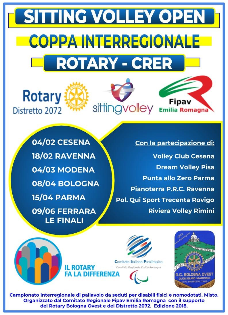 2° COPPA INTERREGIONALE SITTING VOLLEY ROTARY CRER